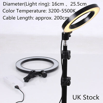 16CM 3 Modes 40W 5500K LED Dimmable Ring Light Studio Photo Video Live Lamp R