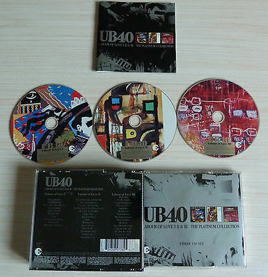 Box 3 Cd Labour Of Love I Ii & Iii Ub40 The Platinum Collection 39 Titres 2003