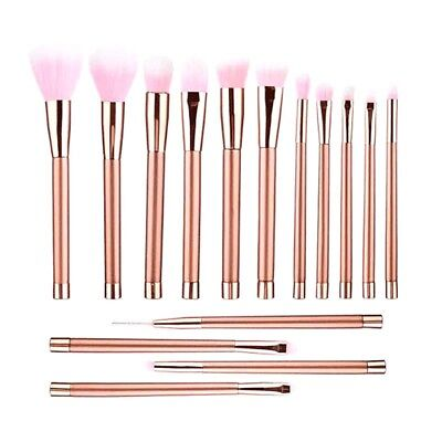 15Pcs/Pack Makeup Brush Cosmetic Brushes For Foundation Eyebrow Eyeliner Bright
