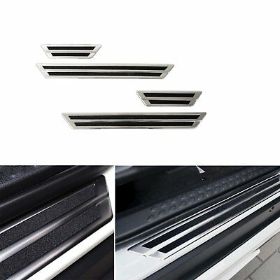 Door Sill Scuff  Plate Guard  Protector Trim For Toyota C-HR CHR 2016-2018