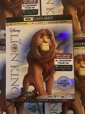 The Lion King 4K Ultra HD + Blu-ray + Digital Code w/Slipcover brand new