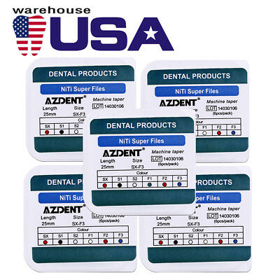 USA 50X Dental Endodontic Root Canal Super Rotary Niti Files Engine Use 25mm
