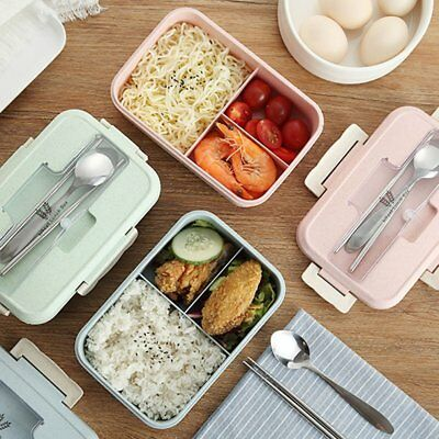 Bento Box Students Insulated Lunch Box Leakproof Divided Lunch Box for School WW