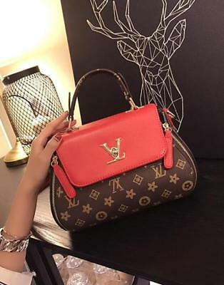 New fashion Female bag Locked handbag Women's PU printing Slant shoulder bag