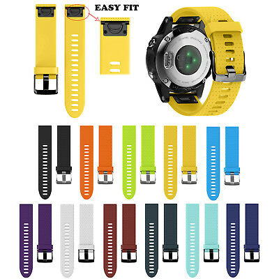 20mm Easy Fit Silicone Strap for Garmin Fenix 5S Band Quick Install Watchbands