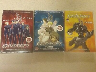 NEW 3 volume DVD Lot Geisters Fractions of the Earth Vol 1, 2 & 3. Sci-Fi Action
