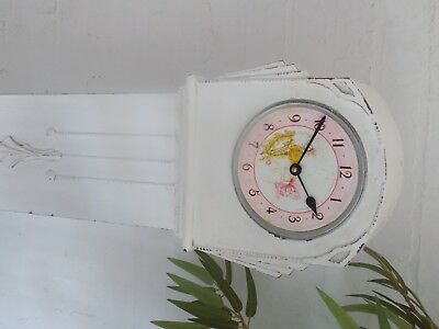Smiths Art Deco Longcase/grandmother Childrens Clock Now With Battery Movement