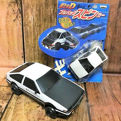 Set of 2  Initial D Pull Back Spinning Car AE86 Banpresto 2003
