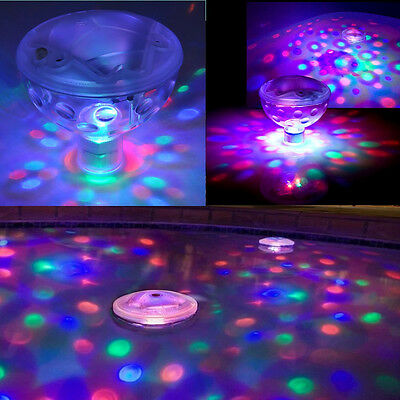 Pool Swimming Light Show Underwater Led Disco Spa Pond Tub Floating Aquaglow FO