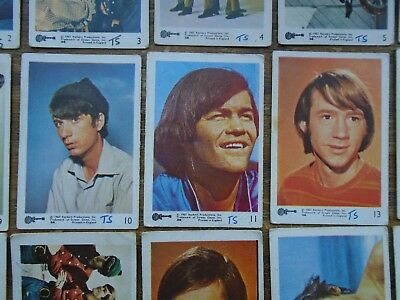 45 VINTAGE MONKEES ( COLOURED ) GUM CARDS by A&BC 1967