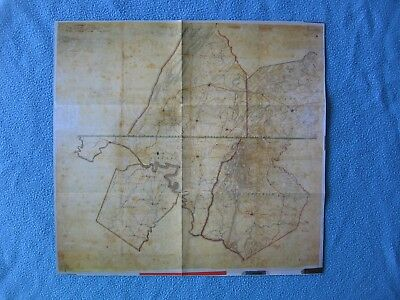 """Civil War Map -  """"The Army of Northern Virginia's Route of March to Pennsylvania"""