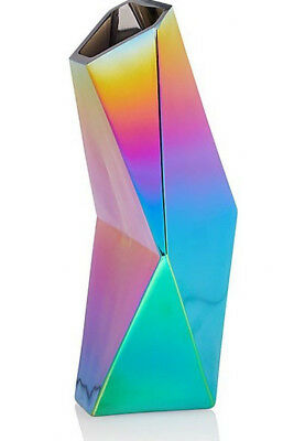 Iridescent Glass Flower Vase Floral Display Home Decor Ornament Great Gift