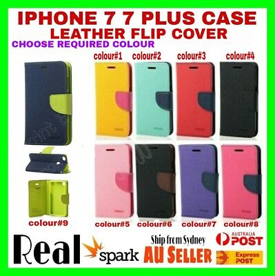 Brand New iphone 7 7plus case leather flip cover for iphone + Tempered Glass