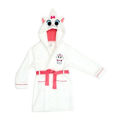 Disney Store Girls Dressing Gown The Aristocats Marie Furrytale Hooded Robe Gift