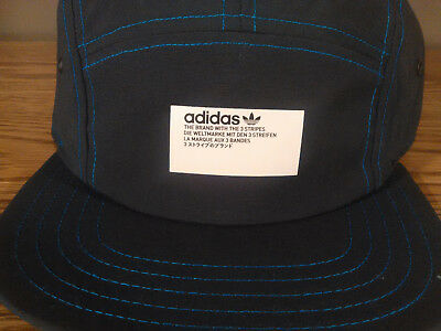 a1a504701bf Adidas NMD Cap Hat Adjustable Strapback Black Blue Stitching 5Panel NWT  DH4418