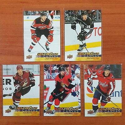 Upper Deck 17/18 (5x) UD Canvas Young Guns Lot Bundle (1:48) Series 1/2