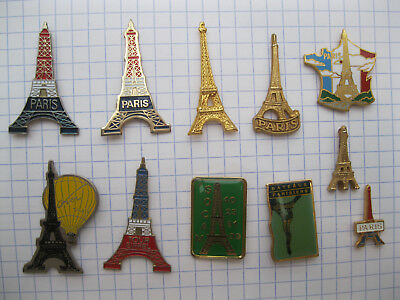 Lot de 11 pin's  TOUR EIFFEL  PARIS
