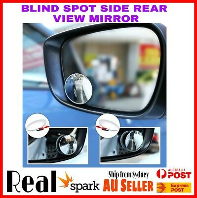 2 Car Rear view Blind Spot Side Rear View Mirror Convex Wide Angle Adjustable AU