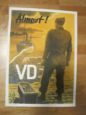 Original US war poster: Schiffers Franz O: VD Almost, 1946 Original-Kriegsplakat