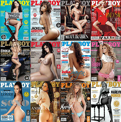 Playboy Mexico 2012 Complete Full Year HOT & SEXY! Lot of 12 Issues