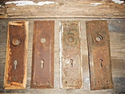 Vtg 4 Chippy Shabby Chic Distressed Door Knob Backplates Arts/crafts Pinterest