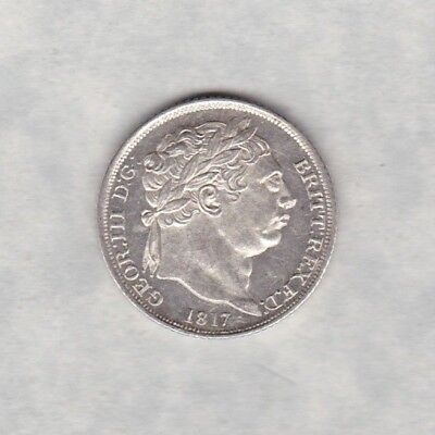 1817 George Iii Sixpence In Near Mint Condition