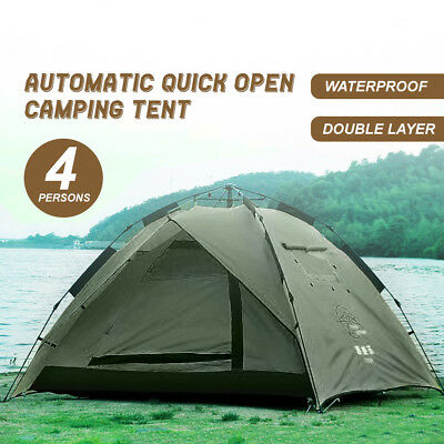 Double Layer Waterproof Automatic Quick Open Camping Tent Outdoor 3-4 Persons
