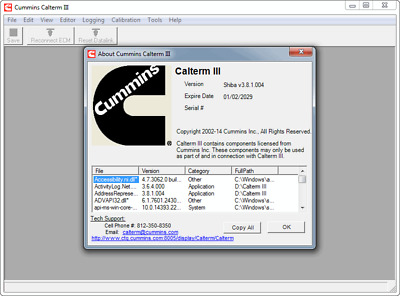 CUMMINS CALTERM III SHIBA V3.8.1.004 Full Activated