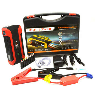 68800mAh Portable 4 in 1 USB Car Jump Starter Booster Charger Battery Power Bank