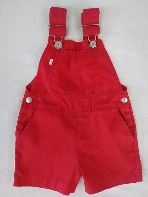 6/9 Cute Little Levis Infant Overalls Red Baby Boy Girl Bibs SF207 Vintage