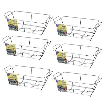 6 pack! Kingsmen CR24121 Buffet Chafer Chrome Wire Frame Stand, Full Size