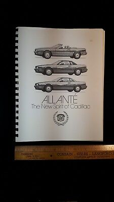 1987 CADILLAC  Allante - Original B&W Press Book - Very Good Condition (US)