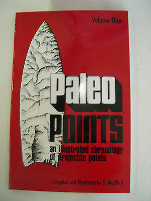 Book Paleo Points Indian Arrowhead Native American Artifact Relic Clovis Project