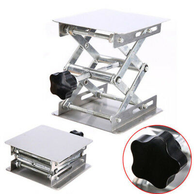 1X Stainless-Steel Lab Lifting Platform Stand Rack Scissor Frame Lab-Lift Lifter