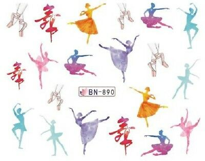 Nail Art Decals Transfers Stickers Ballet Dancers (BN890)