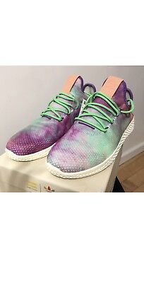 uk availability f16a5 587c8  AC7366  Mens Adidas PW Pharrell Williams HU Holi Tennis Hu Mc Size 10 1