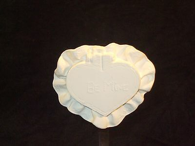 """""""Be Mine"""" Valentine's Day Heart - Ceramic Bisque Ready to Paint"""