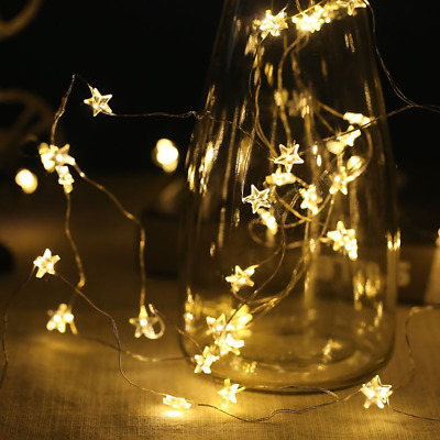 String Lights 40 Warm White LED Stars Fairy 6M for Christmas Halloween Party...