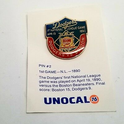 Los Angeles Dodgers 1st National League Game vs Boston 100 ANNIVERSARY PIN 1990