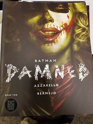 Batman Damned #2 Variant DC Black Label 1st Print JIM LEE HARLEY QUINN 2018 NM