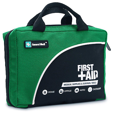 160 Piece Compact First Aid Kit Bag - Including Cold (Ice) Pack, Emergency...
