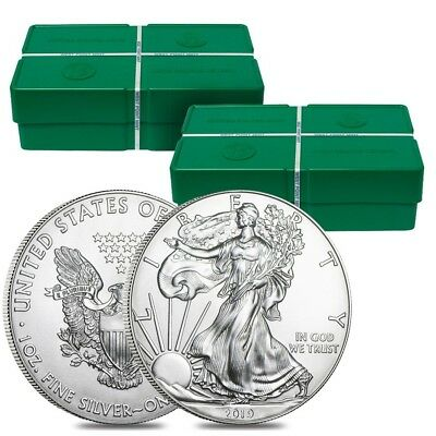 2 Monster Boxes of 500 - 2019 1 oz Silver American Eagle $1 Coin BU (50