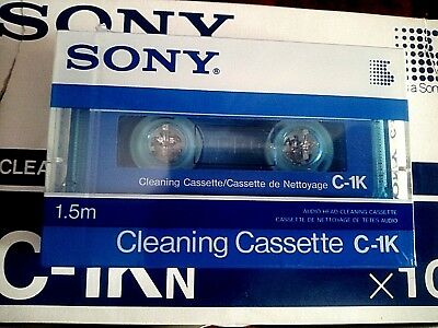 TAPE  SEALED - 1x (one) SONY C-1K - audio head CLEANING CASSETTE - made in Japan