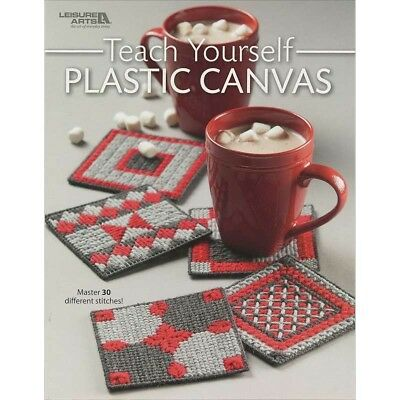 Leisure Arts - Teach Yourself Plastic Canvas softcover book 028906070804