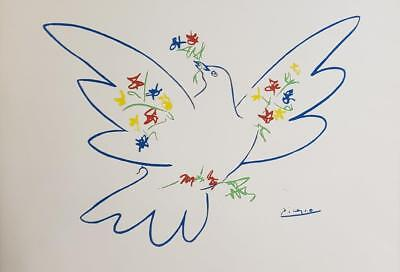 Pablo Picasso Vintage Original 1960's Lithograph signed in the plate