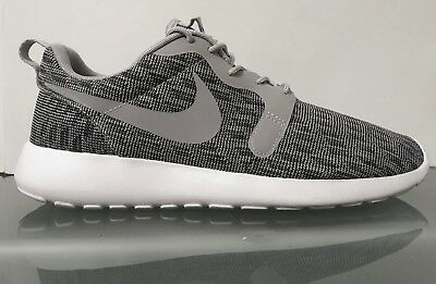 bef87638c127c NIKE ROSHE ONE Run Jacquard Knit Wolf Grey White Men s Shoes Size ...