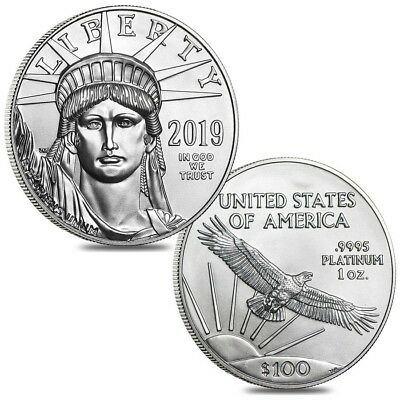 Lot of 2 - 2019 1 oz Platinum American Eagle $100 Coin BU
