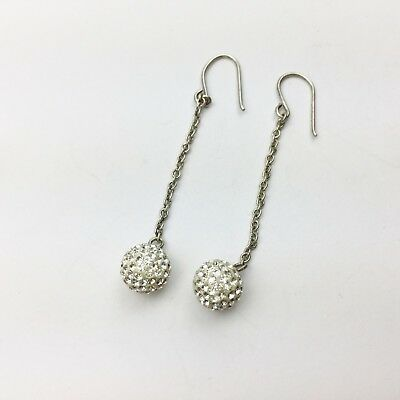 480bc1b02 Vintage Solid Sterling Silver Cluster Ball Bauble Pendant Ladies Earrings