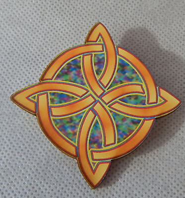 Pin Celtic Knot Brooch Wood Handmade NEW Accessories Fashion Irish Multi-Color
