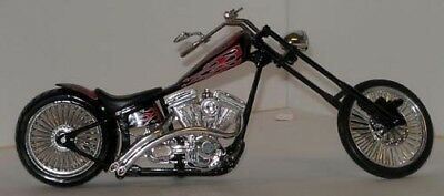Big Twin Harley Chopper plastic model very cool with devil tail flames